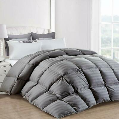 All-Season Goose Down Alternative Quilted Comforter in Box Style Queen/King Size