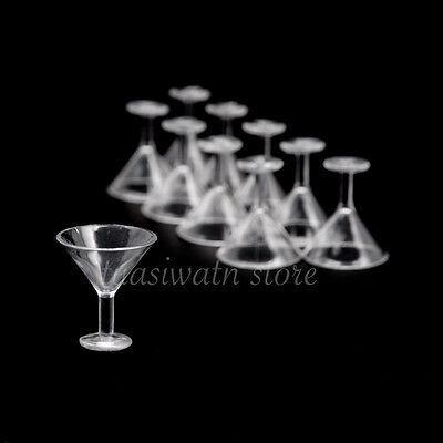 Dollhouse Miniatures Plastic Martini Glass