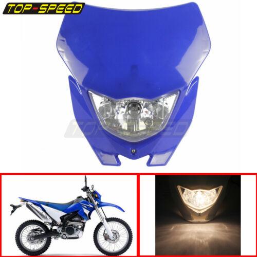 35W Off Road Dirt Bike Motorcycle Headlight for Honda Kawasaki Suzuki Yamaha KTM Custom Blue
