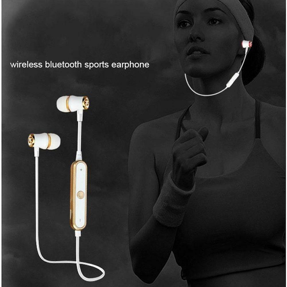 Bluetooth Wireless Headset earphones Sport neck band recharg