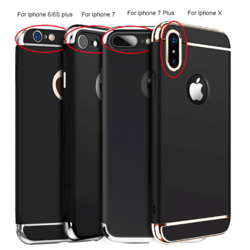 For iPhone XS X 6 6S 7 8 Plus 3in1 Shockproof Ultra Thin Hybrid Hard Case Cover