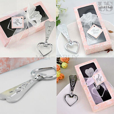 20 Lot Love Heart Beer Wine Metal Bottle Opener Wedding Party Favors w/ Gift Box - Wine Party Favors