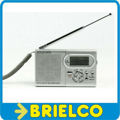 RADIO AM-FM MINI PORTATIL RELOJ ALARMA DESPERTADOR ALIMENTACION 2XAAA 3V BD6389 segunda mano  Embacar hacia Argentina