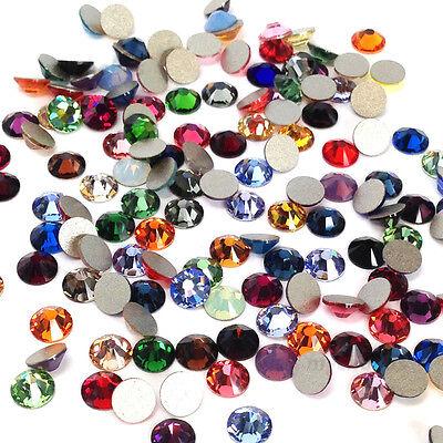 Swarovski 2058/2088 crystal flatback rhinestones 1 gross 144 Assorted MIX COLORS