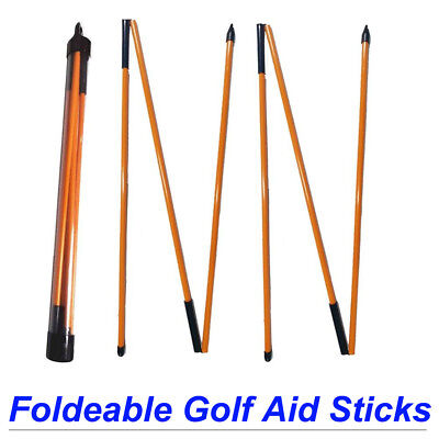(Foldeable Golf Alignment Sticks Swing Plane Tour Training Practice Aid)