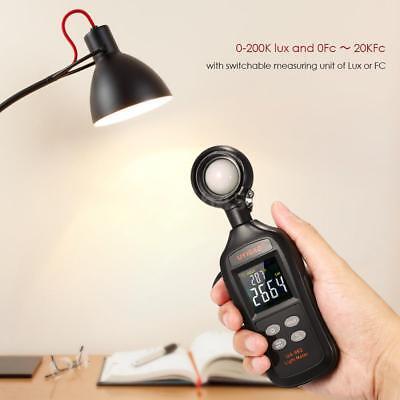 UYIGAO Mini Digital Lux Meter LCD-Display Handheld-Illuminometer A5F5
