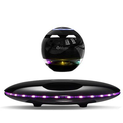 Vbluer schwebender 4.0 Bluetooth Lautsprecher Mikrofon LED 360° schwarz