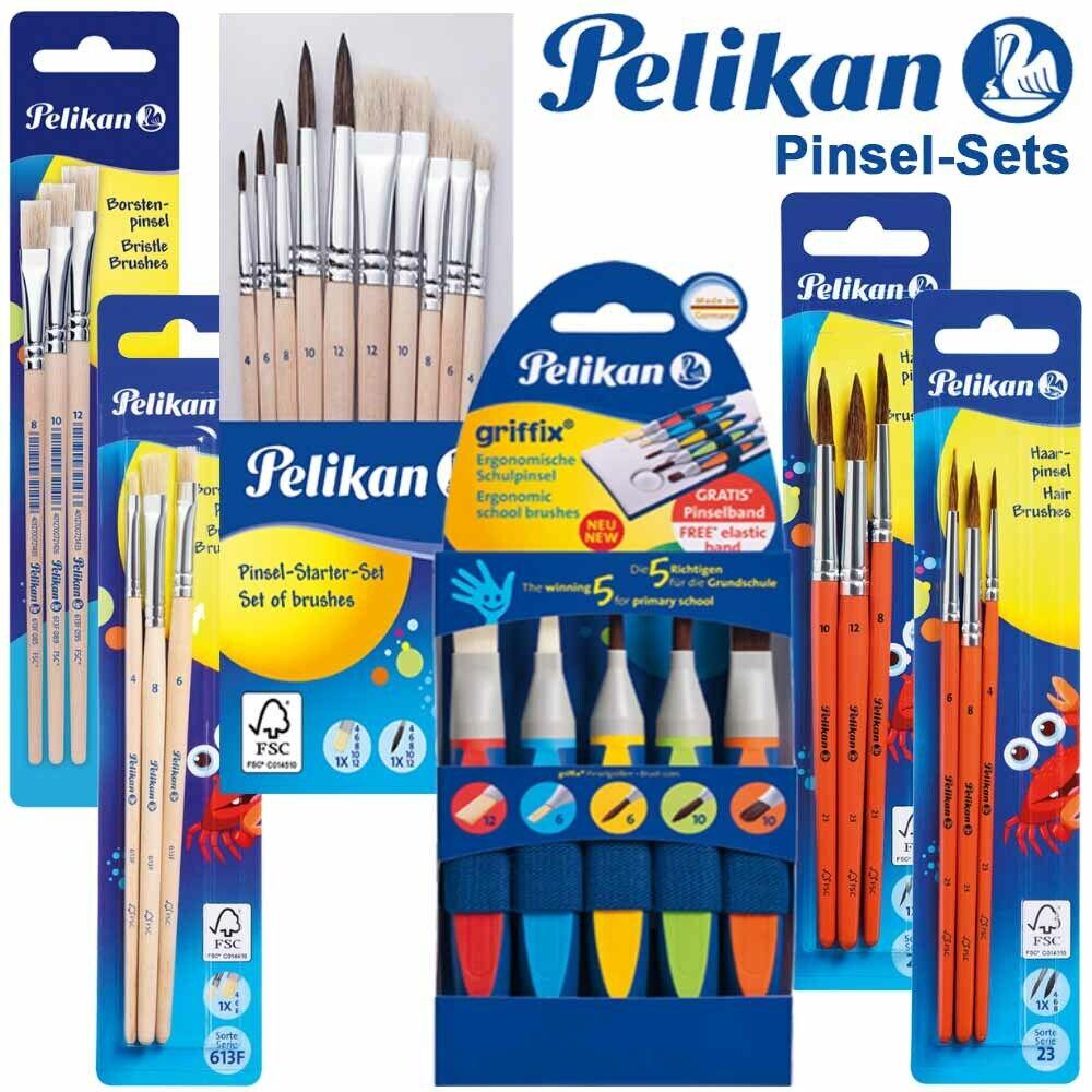 Pelikan Pinsel Griffix Schulpinsel Starter Set Haarpinsel Borstenpinsel Auswahl