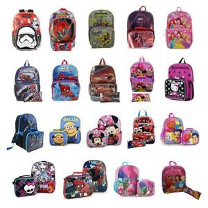 Kids School Bag Backpack with Lunch Bag and Pencil Case Set for Boys/Girls