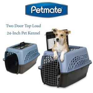 NEW Petmate 21231 Two Door Top Load 24-Inch Pet Kennel, Metallic Pearl Ash Blue and Coffee Ground Bottom Condtion: Ne...