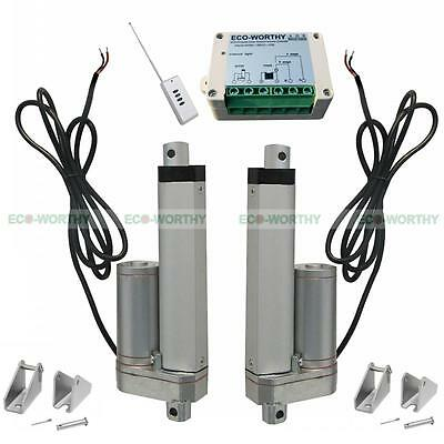 2 Set 12V 4 in Linear Actuator W/ Remote Control for Metallurgy Mine Industry