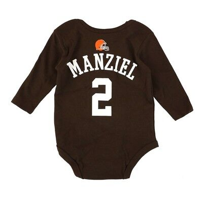 Johnny Manziel NFL Cleveland Browns Brown Infant Jersey Long Sleeve Creeper