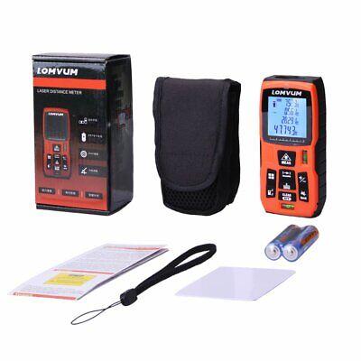 Lomvum 120m 393 Electronic Digital Tape Measure Ultrasonic Laser Distance Meter