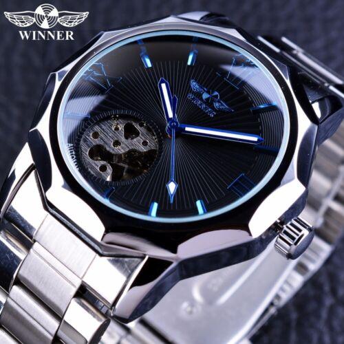 Luxus Herrenuhr Blaues Meer Armbanduhren Armband  Analog Edelstahl Uhr Geschank