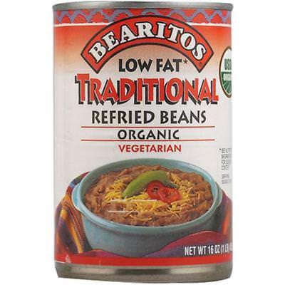 Bearitos-Organic Low Fat Refried Beans (12-16 oz bags)