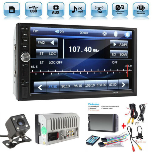 $52.99 - Car Stereo Radio Bluetooth Audio Receiver Double Din 7