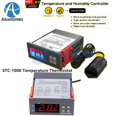 Sht2000 Stc-1000 110-220230v Temperature Humidity Controller Thermostat Sensor