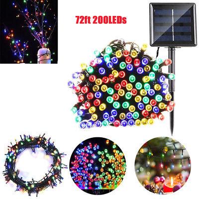 200 LED 72ft Outdoor Solar Power String Light Garden Christmas Fairy Lamp Decor