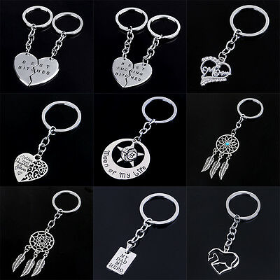 - Horse Best Friend Mom Dad Key Chain Ring Silver Keychain Keyring Charm Gifts New