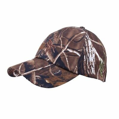 check out 8d969 6db00 Camo Baseball Cap Fishing Cap Men Outdoor Hunting Army Camouflage  Adjustable Hat