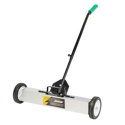 24 Rolling Magnetic Sweeper Pickup Push Broom Floor Cleaner Tool Telescoping Us