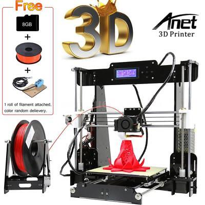 Anet A8 Upgraded Auto Unfluctuating 3D Printer DIY Kit +Filament+8GSD Card ABS/PLA Print