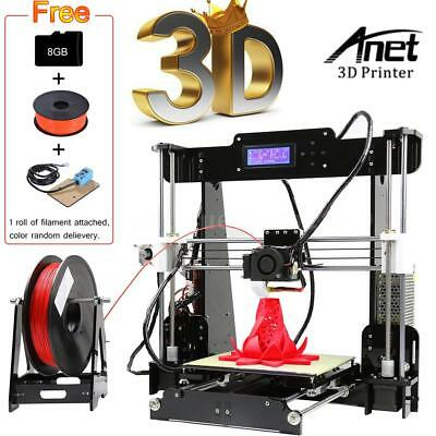 Anet A8 Upgraded Auto Level 3D Printer DIY Kit+Filament+8G S