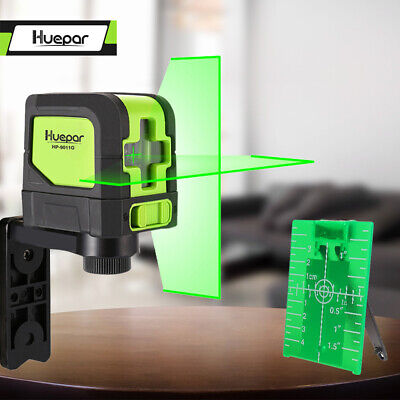 Huepar Green Laser Level DIY Cross Line Laser Self Leveling 9011G Bright Green