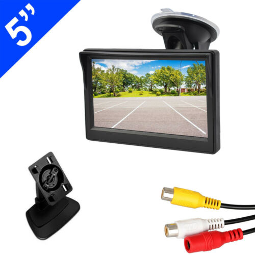 "Car Rear View System Monitor 5"" TFT LCD for Night Vision Backup Reverse Camera"