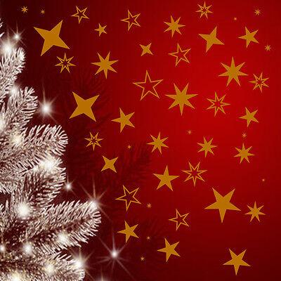 100 Sterne  Fensteraufkleber  z.B Weihnachtsdekoration ,Schaufenster,Wandtattoo