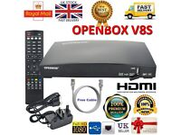 OPENBOX V8S HD TV Digital Freesat PVR Satellite Receiver Box With 18 Month Warranty! Only £75