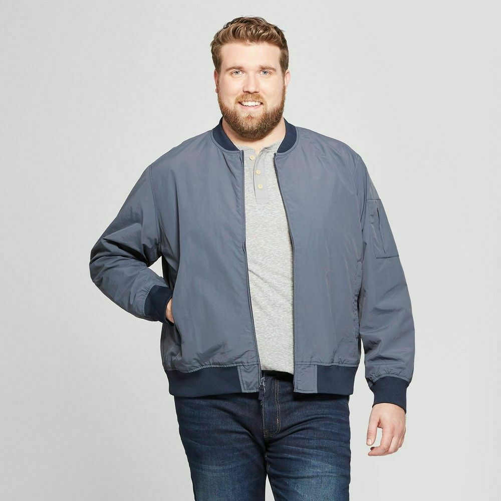 Men's Matte Bomber Jacket – Goodfellow & Co Geneva Blue – Size M – NWT Clothing, Shoes & Accessories