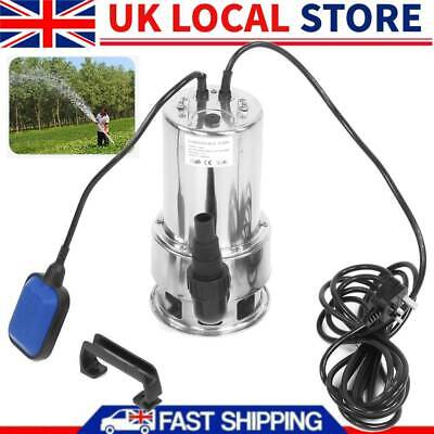 2850RPM 16000L/H POOL SUBMERSIBLE WATER FLOOD POND Dirty SUMP SEWAGE DIRTY PUMP
