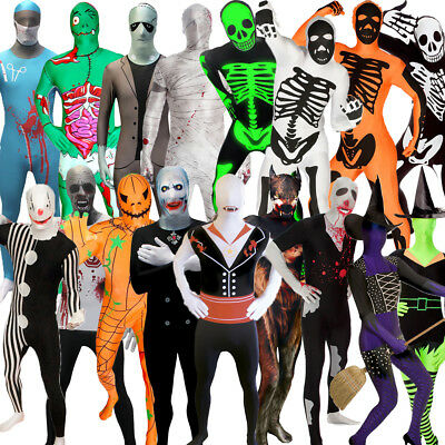 SALE Halloween Morphsuit Zombie Vampire Mummy Skeleton Witch Fancy Dress Costume](Skeletons Costumes)