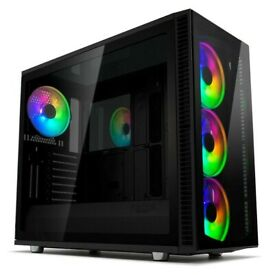 Fractal Design Define S2 Vision RGB Midi ATX Tower PC case, no fans, no control