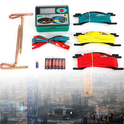 Industrial Dy4100 Digital Earth Ground Resistance Tester Meter Test Tool