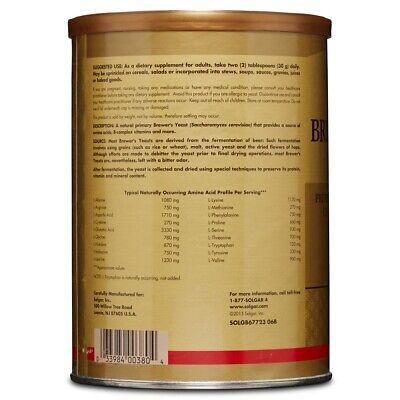 Solgar Brewer's Yeast Powder 14 oz FRESH Made In USA, FREE US SHIPPING 1