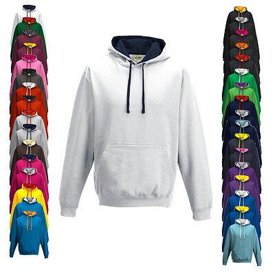 Just Hoods Herren Kapuzenpullover Sweatshirt Pullover VARSITY HOODIE Neu JH003