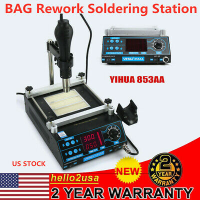 1200w 853aa Rework Soldering Iron Station Bag Hot Air Gun Solder 120lmin 110v