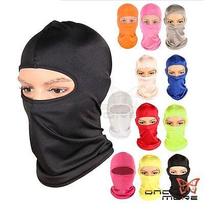 Outdoor Ski Motorcycle Cycling Balaclava Micro Fiber Full Face Mask Neck Thin