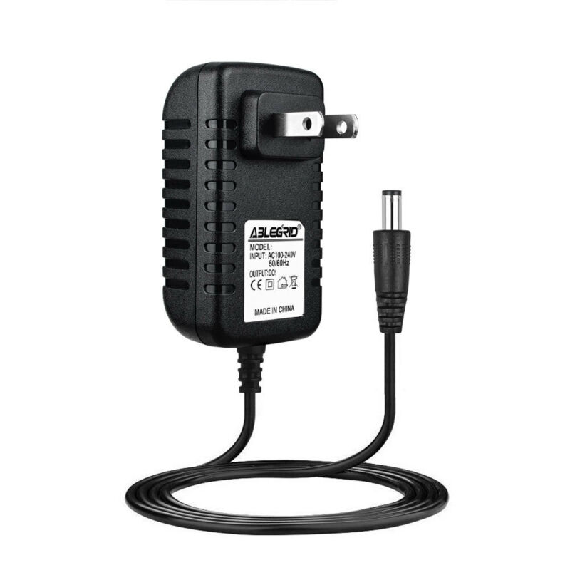 9.6 Volt DC Power Supply AC Wall Adapter 5.5/2.5mm 9.6V 200mA Center Negative