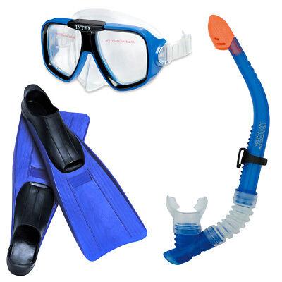 Schnorchelset INTEX Tauchset Reef Rider Taucherbrille + Schnorchel + Flossen