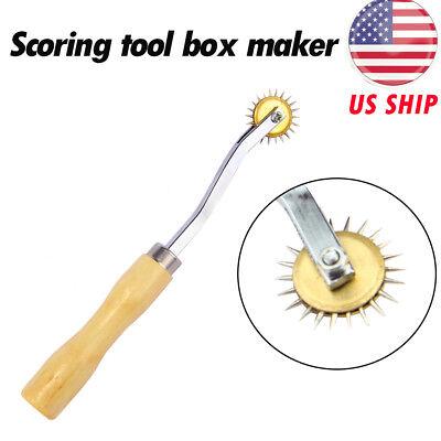 1x Wood Handle Scoring Tool Box Maker Your Own Box Cardboard Carton Resizer Tool