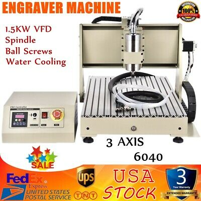 6040t Usb 3 Axis Engraver Cnc Router Engraving Drilling Milling Machine 1.5kw