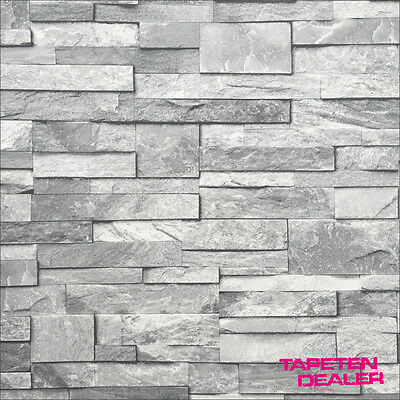 steintapete steinoptik tapete steinwand grau ideco a17202 steinmauer grau