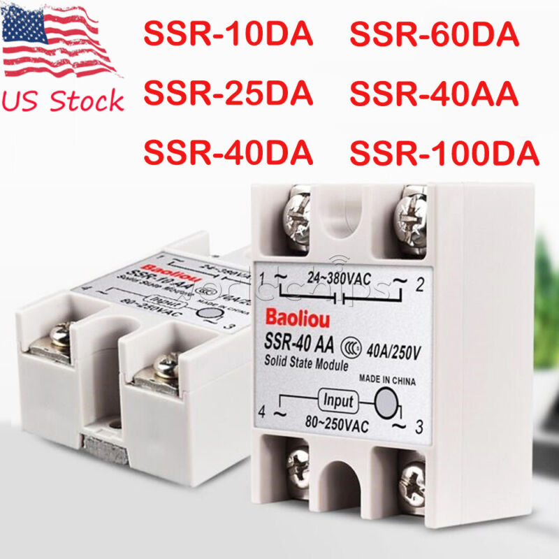 Fotek Solid State Relay Module DC Input 24-480VAC SSR-90DA 90A Control AC