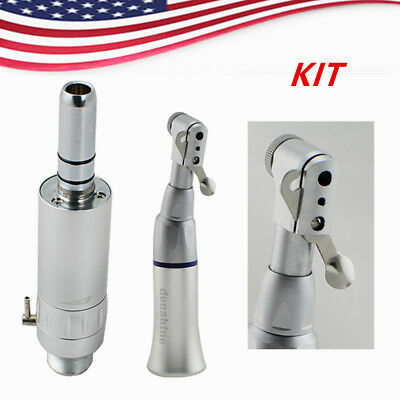 Dental Slow Low Speed Handpiece Contra Angle Latch Bur With Air Motor 2 Hole Ca