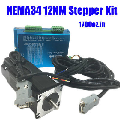Nema34 12nm Closed-loop Stepper Motor Hybrid Servo Driver Kit Cnc Engraving