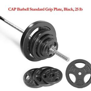 NEW CAP Barbell Standard Grip Plate, Black, 25 lb Condtion: New, 25-Pound