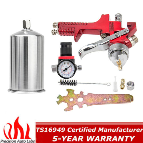 1.4MM HVLP Gravity Feed Spray Gun + Air Regulator Auto Paint Basecoat Clearcoat
